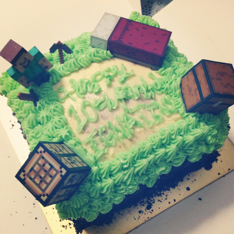 Geek Cakes Minecraft Birthday Cake Food Glorious Food